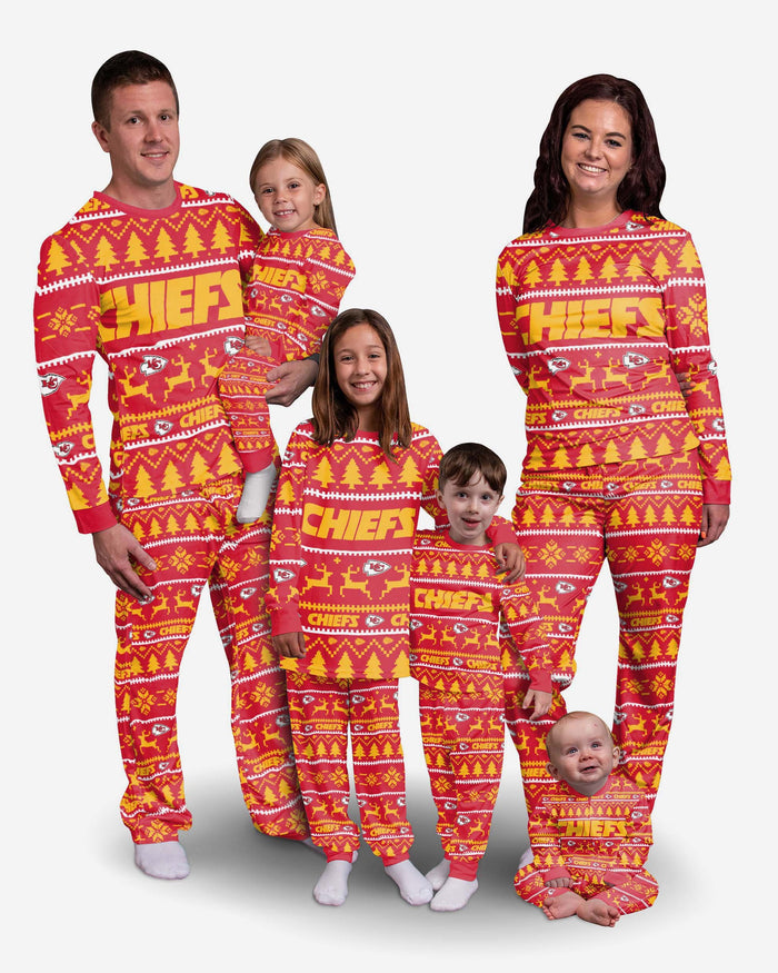 Kansas City Chiefs Family Holiday Pyjamas FOCO - FOCO.com | UK & IRE