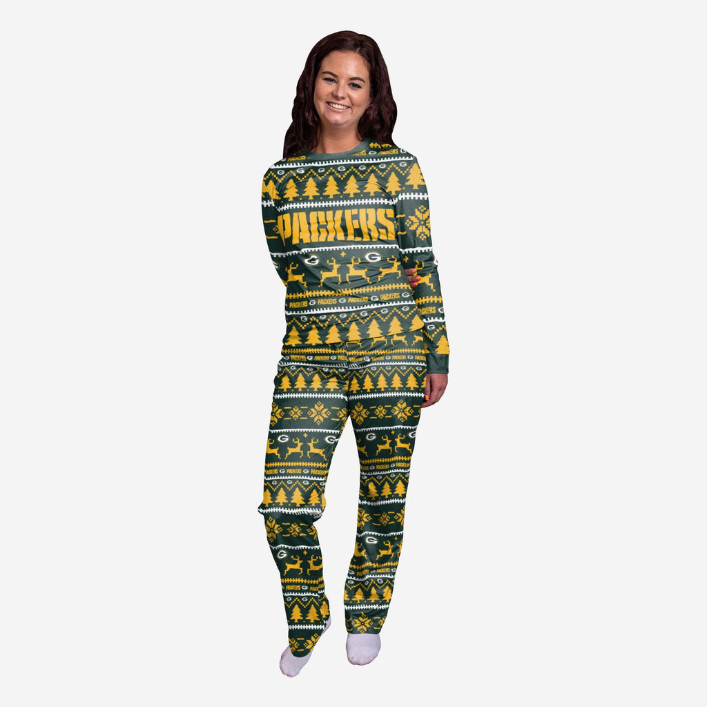 Green Bay Packers Womens Family Holiday Pyjamas FOCO S - FOCO.com | UK & IRE