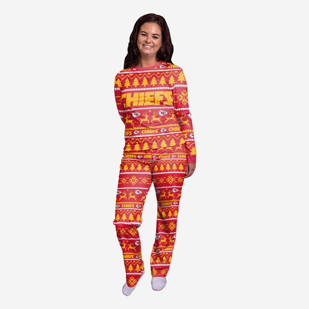 Kansas City Chiefs Womens Family Holiday Pyjamas FOCO L - FOCO.com | UK & IRE