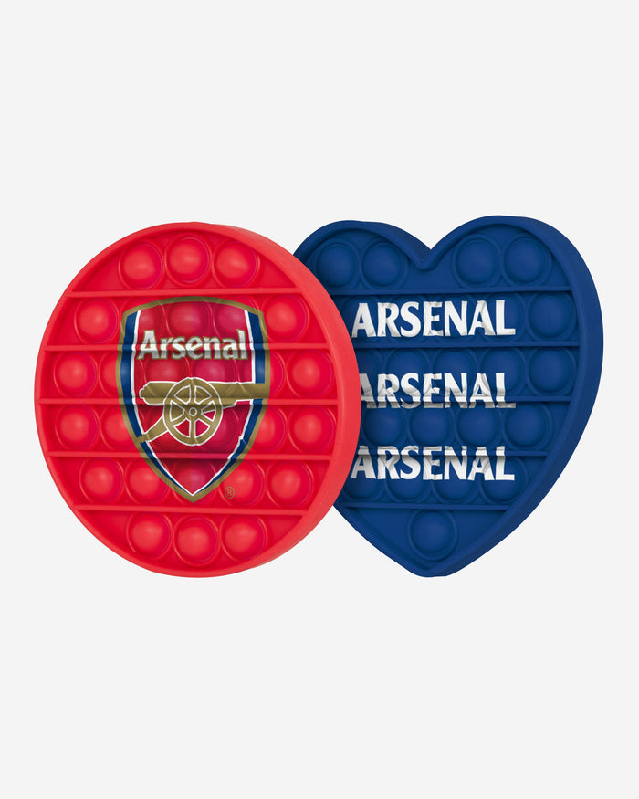 Arsenal FC 2 Pack Circle & Heart Push-Itz Fidget FOCO - FOCO.com | UK & IRE