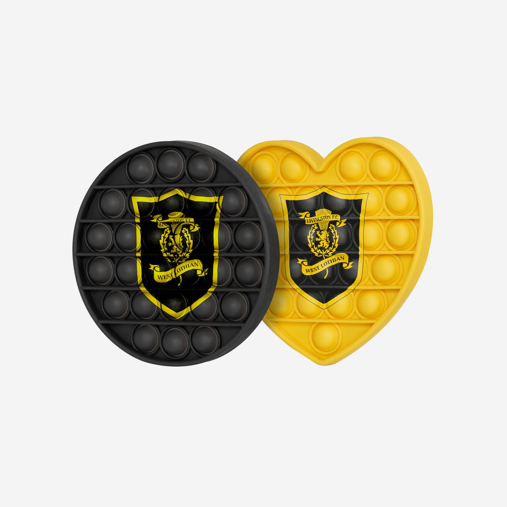Livingston FC 2 Pack Circle & Heart Push-Itz Fidget FOCO - FOCO.com | UK & IRE