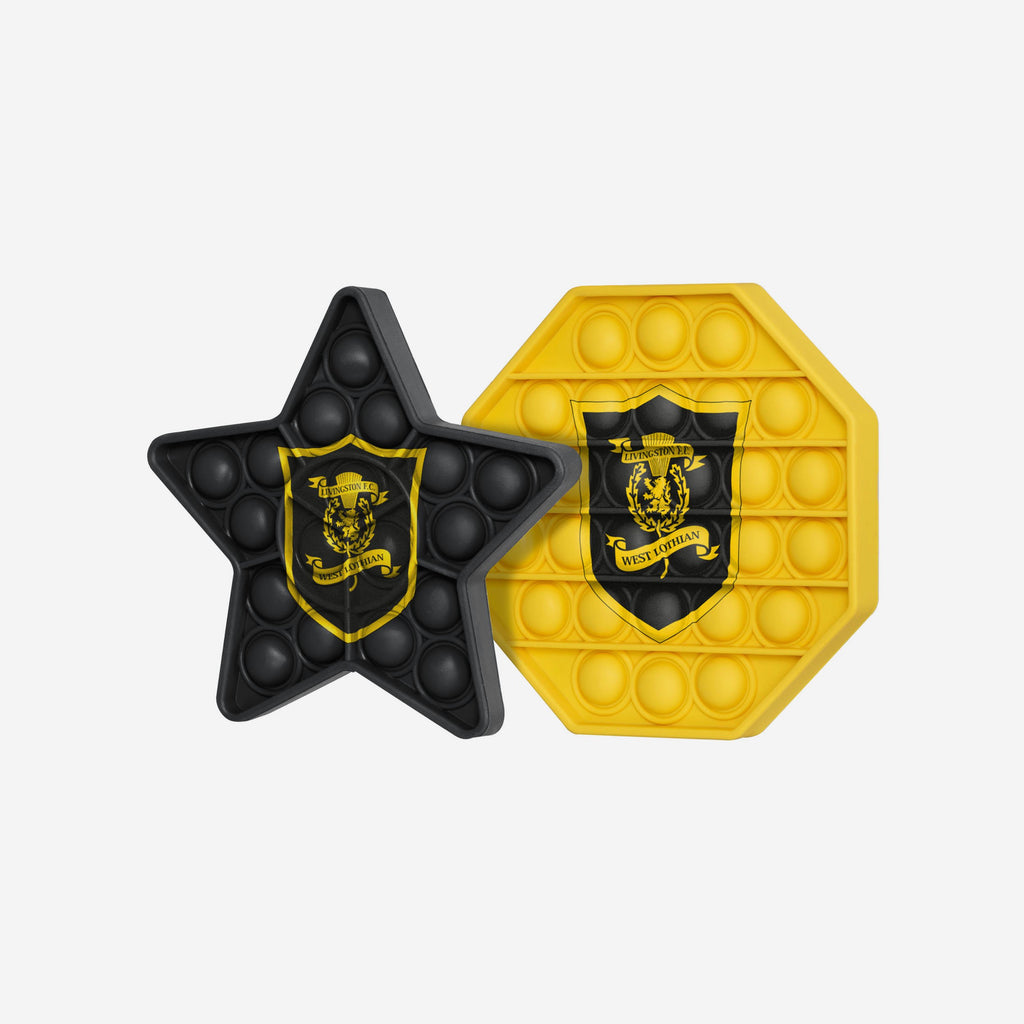 Livingston FC 2 Pack Octagon & Star Push-Itz Fidget FOCO - FOCO.com | UK & IRE