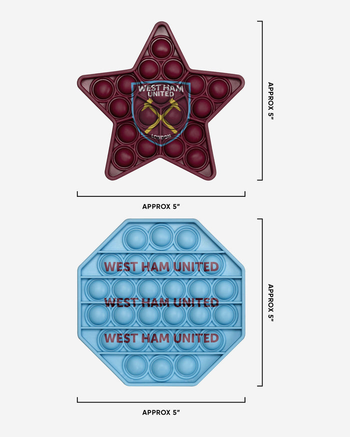 West Ham United FC 2 Pack Octagon & Star Push-Itz Fidget FOCO - FOCO.com | UK & IRE