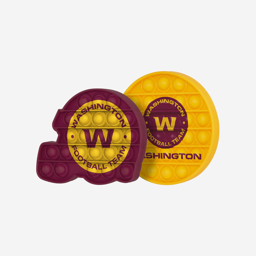 Washington Football Team 2 Pack Helmet & Circle Push-Itz Fidget FOCO - FOCO.com | UK & IRE