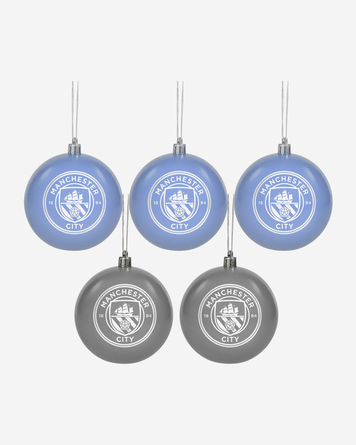Manchester City FC 5 Pack Bauble Set FOCO - FOCO.com | UK & IRE
