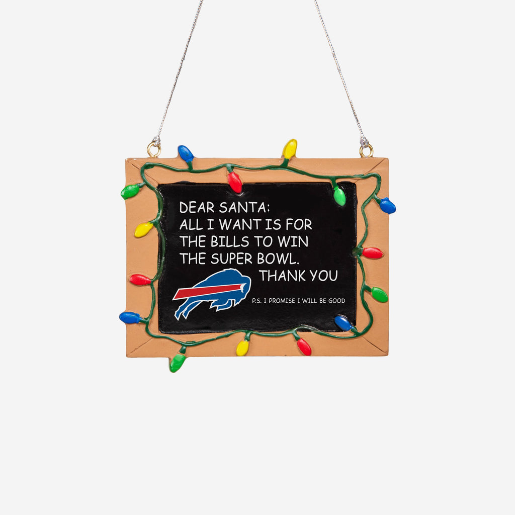 Buffalo Bills Resin Chalkboard Sign Ornament FOCO - FOCO.com | UK & IRE