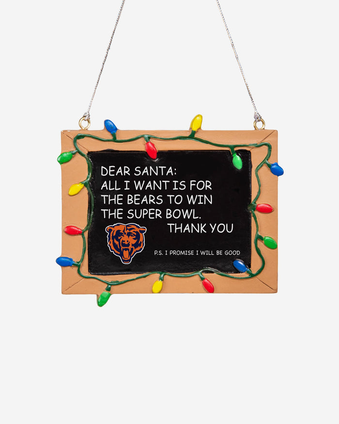 Chicago Bears Resin Chalkboard Sign Ornament FOCO - FOCO.com | UK & IRE