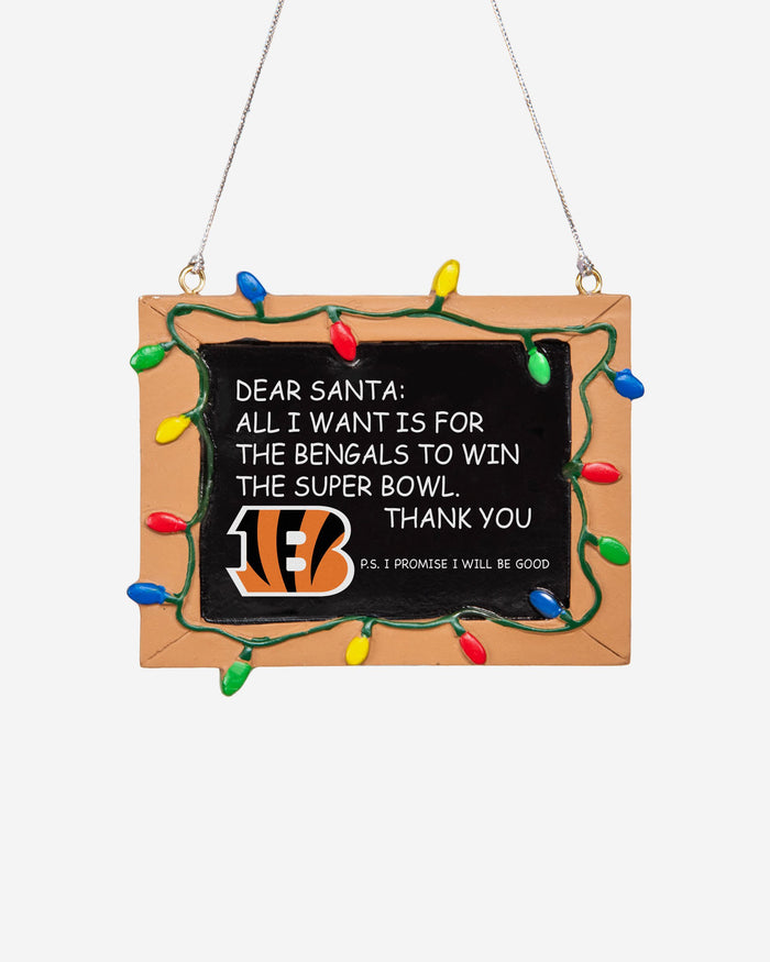 Cincinnati Bengals Resin Chalkboard Sign Ornament FOCO - FOCO.com | UK & IRE