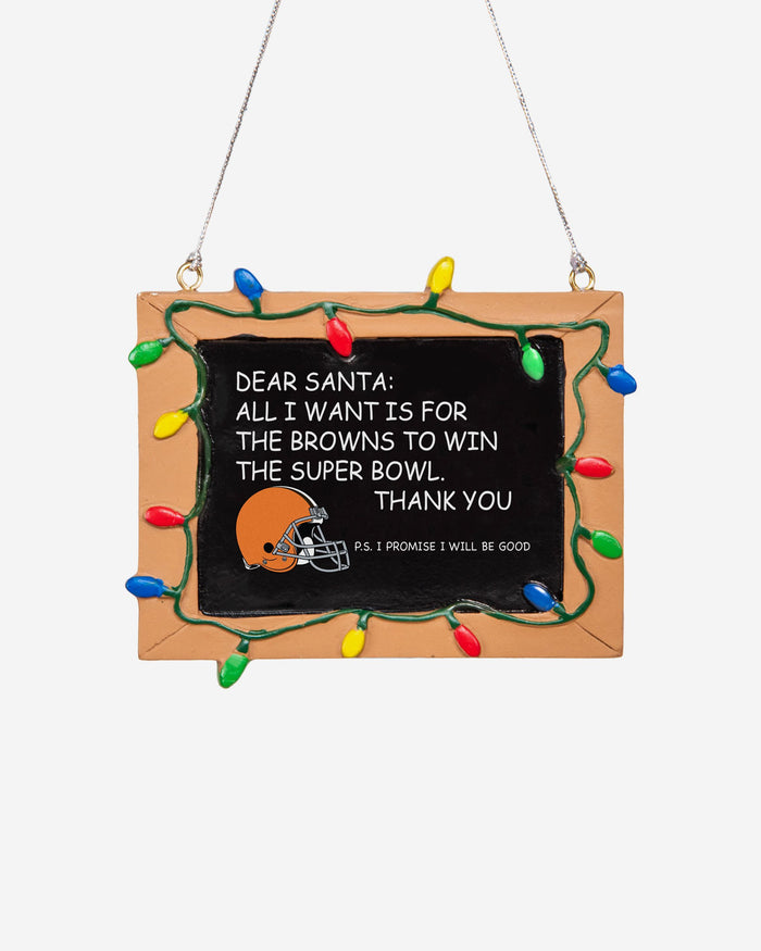 Cleveland Browns Resin Chalkboard Sign Ornament FOCO - FOCO.com | UK & IRE