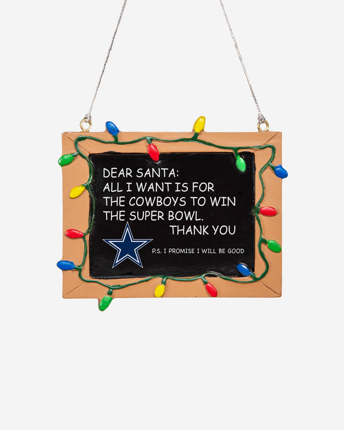 Dallas Cowboys Resin Chalkboard Sign Ornament FOCO - FOCO.com | UK & IRE