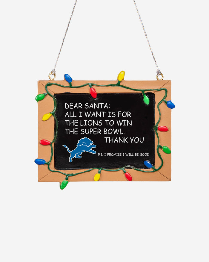 Detroit Lions Resin Chalkboard Sign Ornament FOCO - FOCO.com | UK & IRE