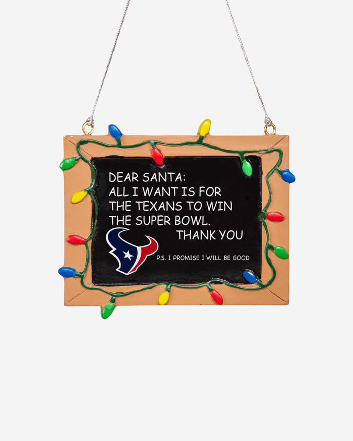 Houston Texans Resin Chalkboard Sign Ornament FOCO - FOCO.com | UK & IRE