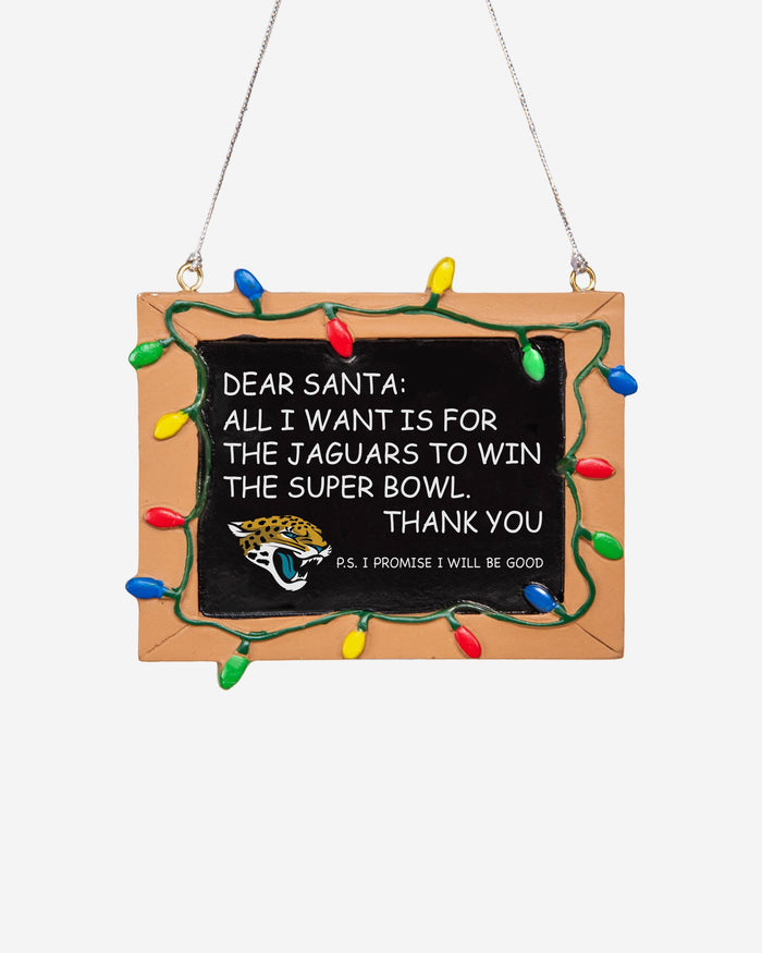 Jacksonville Jaguars Resin Chalkboard Sign Ornament FOCO - FOCO.com | UK & IRE