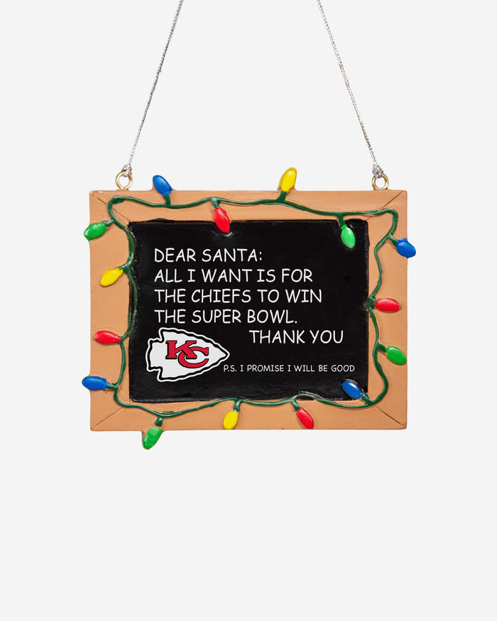 Kansas City Chiefs Resin Chalkboard Sign Ornament FOCO - FOCO.com | UK & IRE