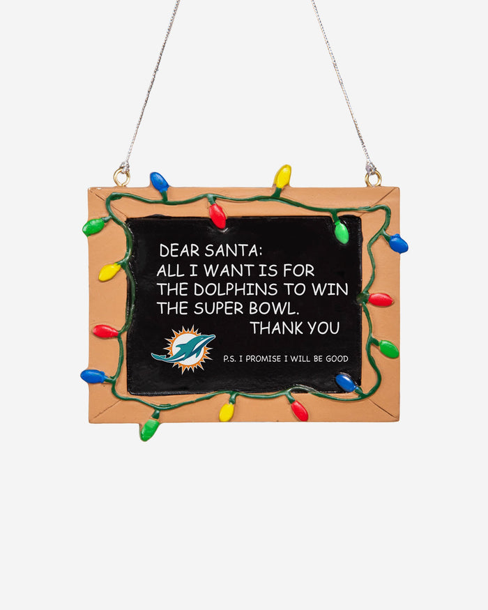 Miami Dolphins Resin Chalkboard Sign Ornament FOCO - FOCO.com | UK & IRE