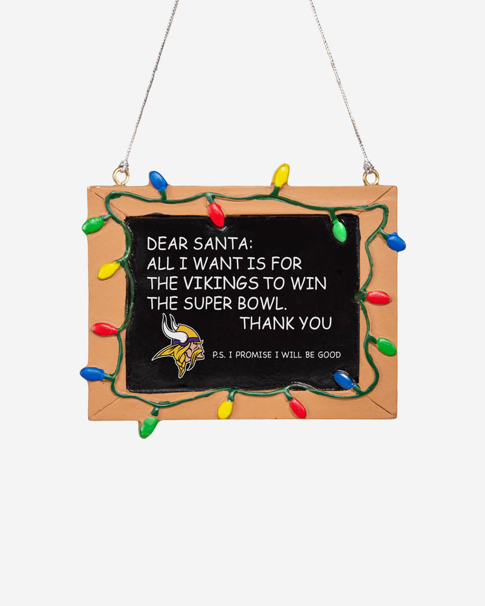 Minnesota Vikings Resin Chalkboard Sign Ornament FOCO - FOCO.com | UK & IRE
