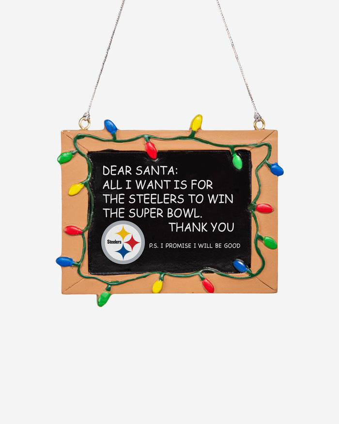 Pittsburgh Steelers Resin Chalkboard Sign Ornament FOCO - FOCO.com | UK & IRE