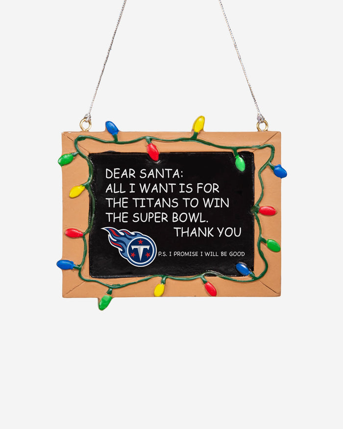 Tennessee Titans Resin Chalkboard Sign Ornament FOCO - FOCO.com | UK & IRE