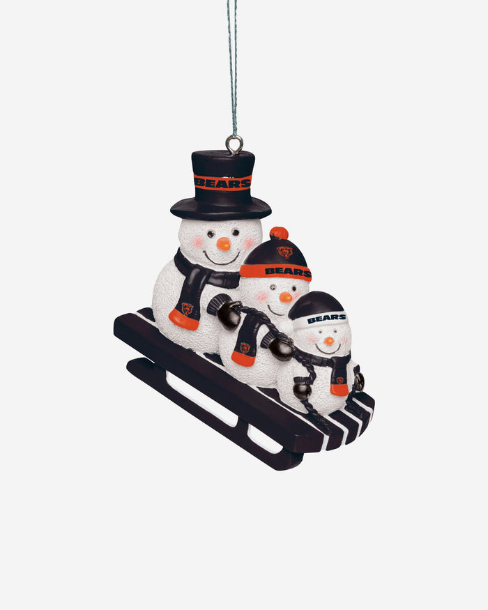 Chicago Bears Sledding Snowmen Ornament FOCO - FOCO.com | UK & IRE