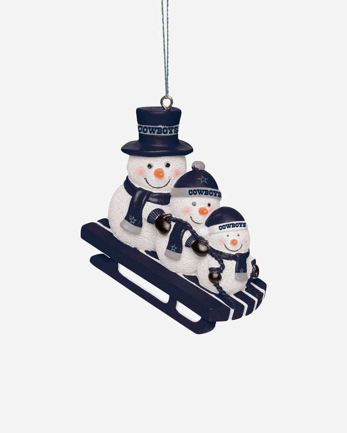 Dallas Cowboys Sledding Snowmen Ornament FOCO - FOCO.com | UK & IRE