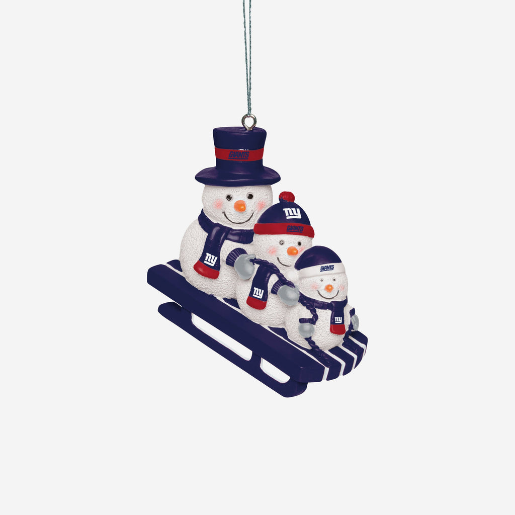 New York Giants Sledding Snowmen Ornament FOCO - FOCO.com | UK & IRE