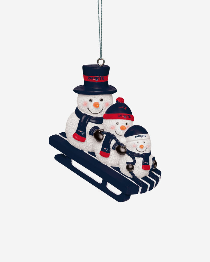 New England Patriots Sledding Snowmen Ornament FOCO - FOCO.com | UK & IRE