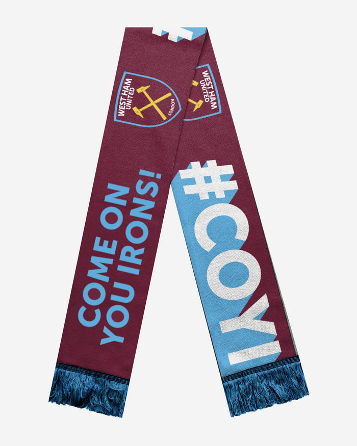 West Ham United FC Slogan Scarf FOCO - FOCO.com | UK & IRE