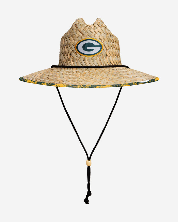 Green Bay Packers Floral Straw Hat FOCO - FOCO.com | UK & IRE