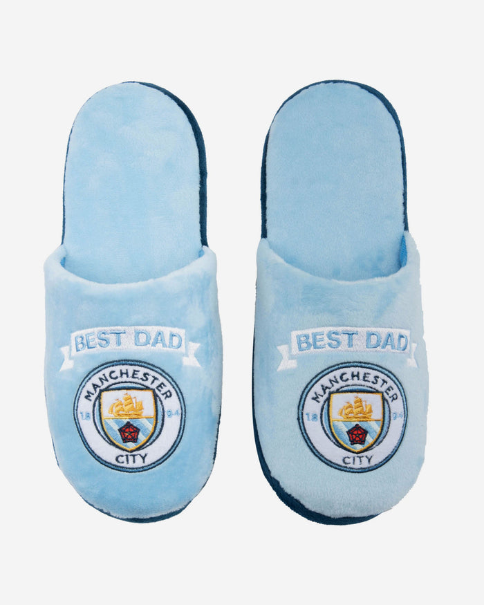 Manchester City FC Best Dad Slippers FOCO - FOCO.com | UK & IRE