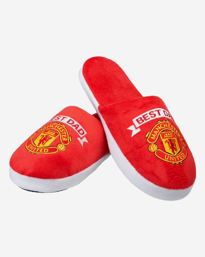 Manchester United FC Best Dad Slippers FOCO - FOCO.com | UK & IRE
