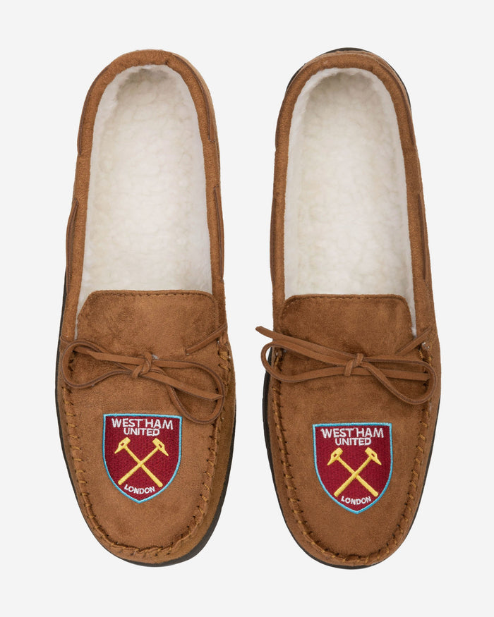 West Ham United FC Suede Moccasin Slipper FOCO - FOCO.com | UK & IRE