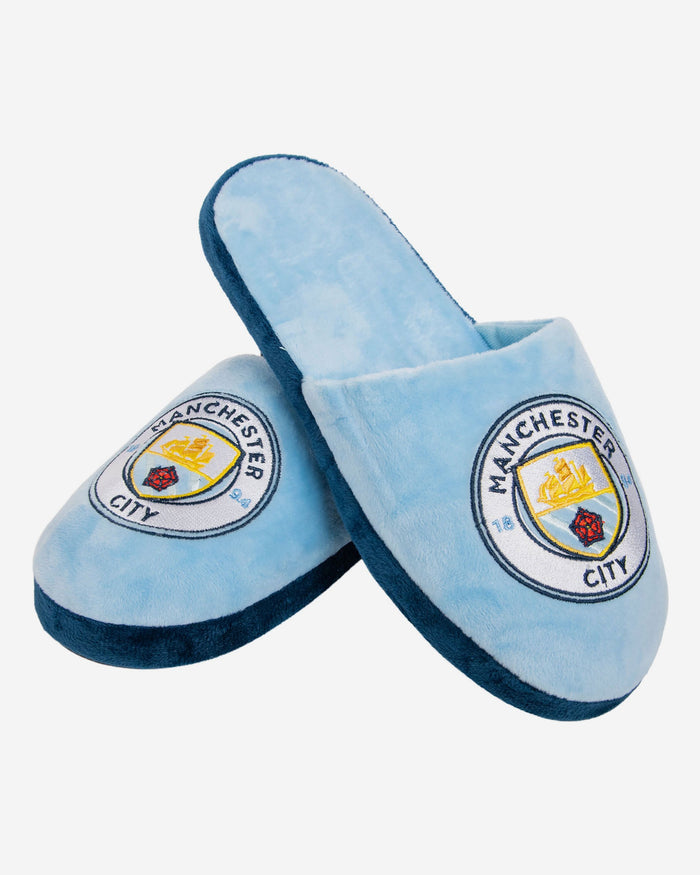 Manchester City FC Split Colour Slide Slipper FOCO - FOCO.com | UK & IRE