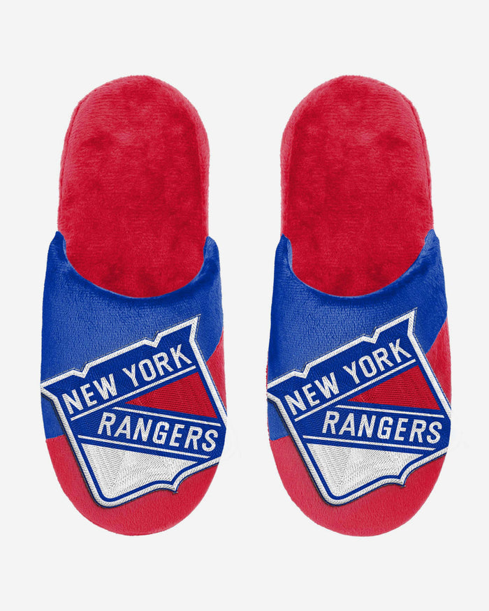 New York Rangers Big Logo Slippers FOCO - FOCO.com | UK & IRE