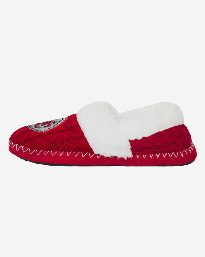 Kansas City Chiefs Team Colour Moccasin Slipper FOCO S - FOCO.com | UK & IRE