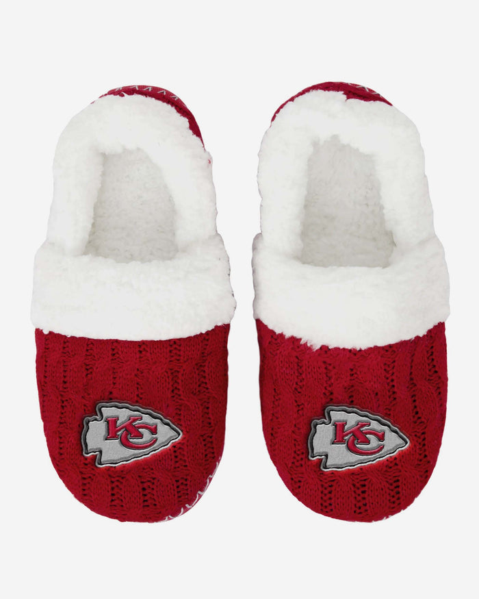 Kansas City Chiefs Team Colour Moccasin Slipper FOCO - FOCO.com | UK & IRE