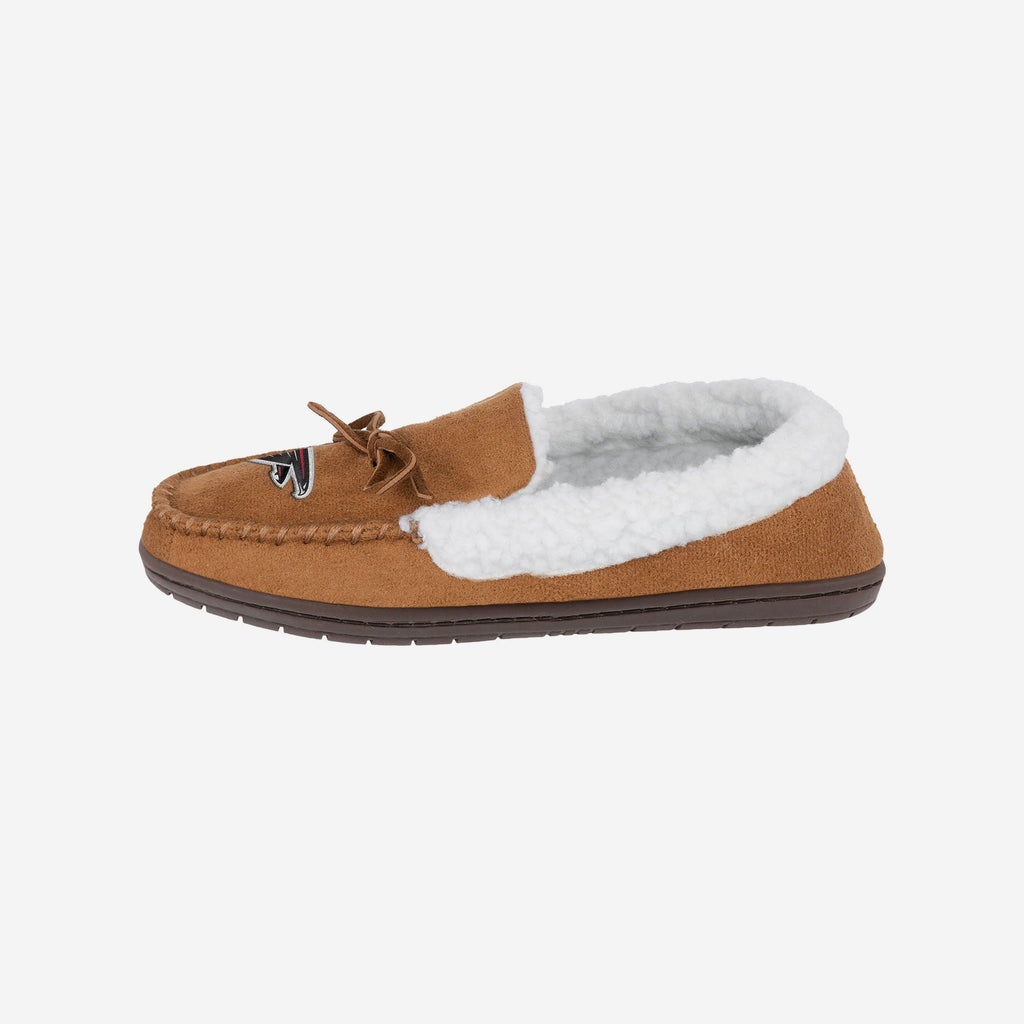 Atlanta Falcons Fur Closed Back Moccasin Slipper FOCO S - FOCO.com | UK & IRE