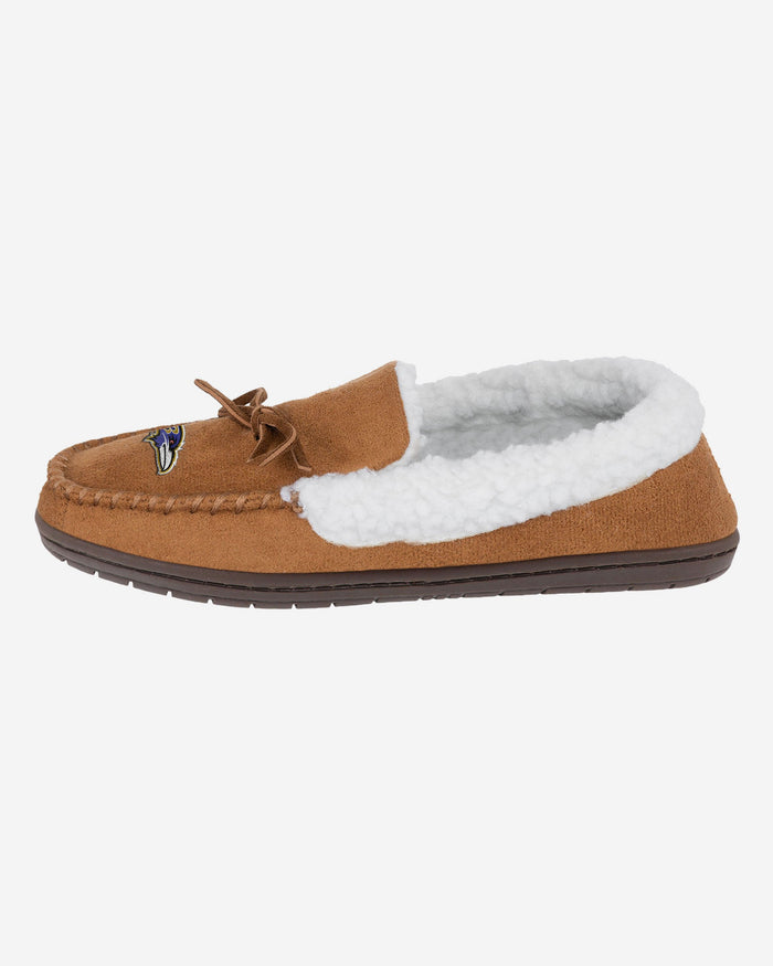 Baltimore Ravens Fur Closed Back Moccasin Slipper FOCO S - FOCO.com | UK & IRE