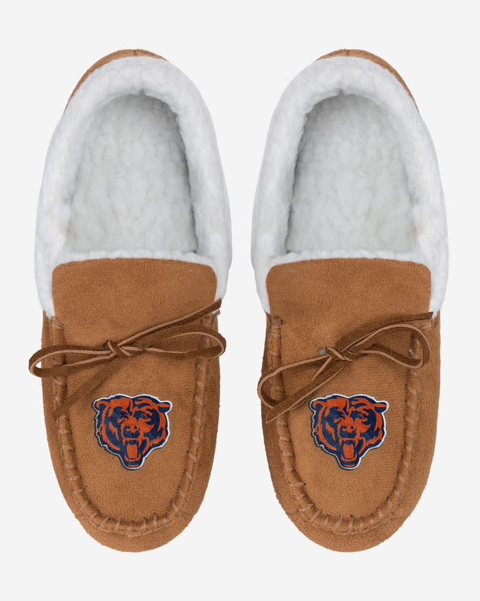 Chicago Bears Fur Closed Back Moccasin Slipper FOCO - FOCO.com | UK & IRE