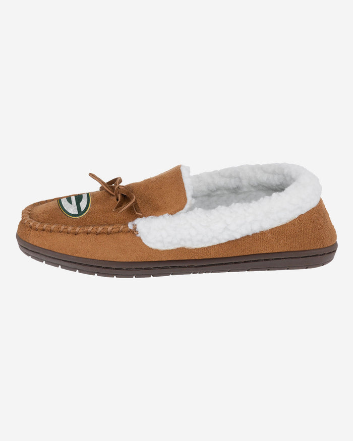 Green Bay Packers Fur Closed Back Moccasin Slipper FOCO S - FOCO.com | UK & IRE