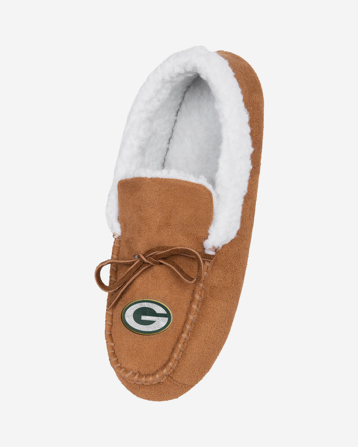 Green Bay Packers Fur Closed Back Moccasin Slipper FOCO - FOCO.com | UK & IRE