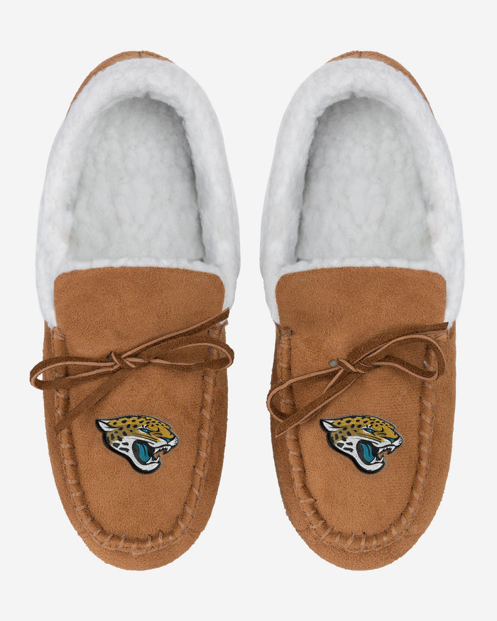 Jacksonville Jaguars Fur Closed Back Moccasin Slipper FOCO - FOCO.com | UK & IRE