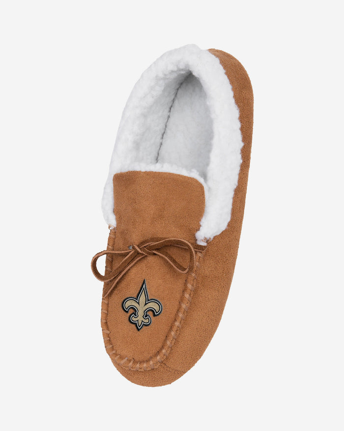 New Orleans Saints Fur Closed Back Moccasin Slipper FOCO - FOCO.com | UK & IRE