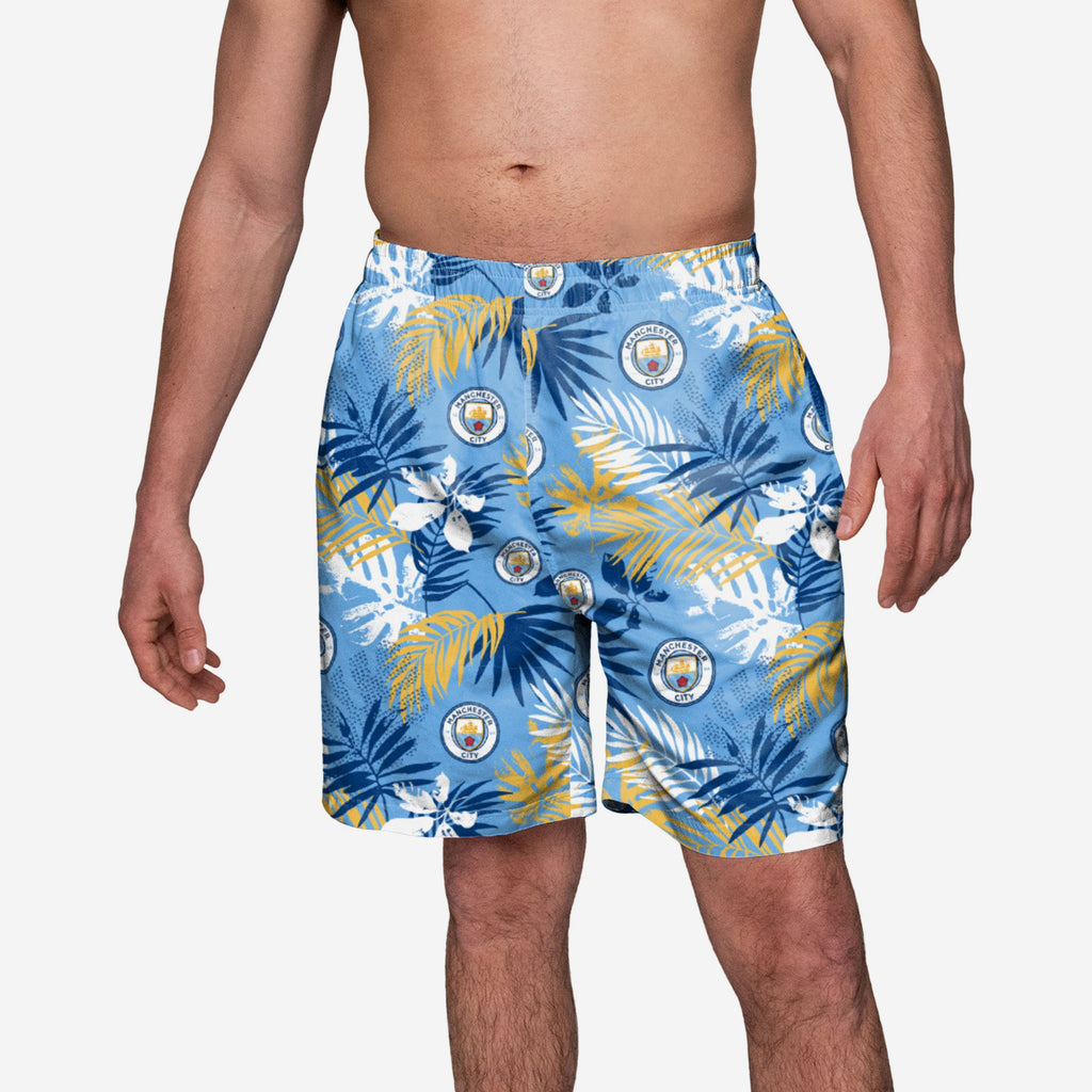 Manchester City FC Floral Boardshorts FOCO S - FOCO.com | UK & IRE