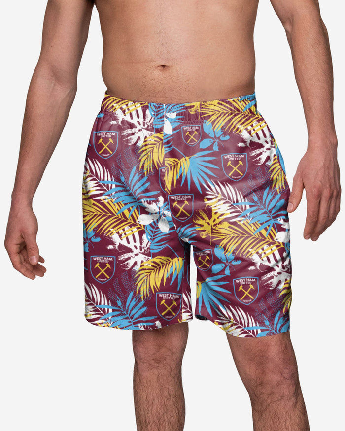 West Ham United FC Floral Boardshorts FOCO S - FOCO.com | UK & IRE