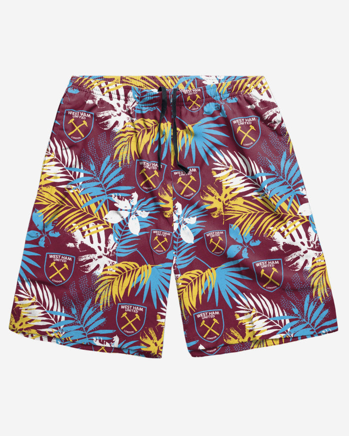 West Ham United FC Floral Boardshorts FOCO - FOCO.com | UK & IRE