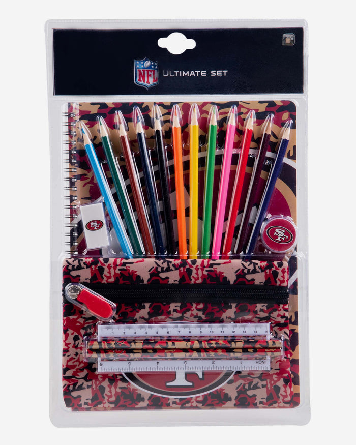 San Francisco 49ers Camouflage Stationery Set FOCO - FOCO.com | UK & IRE