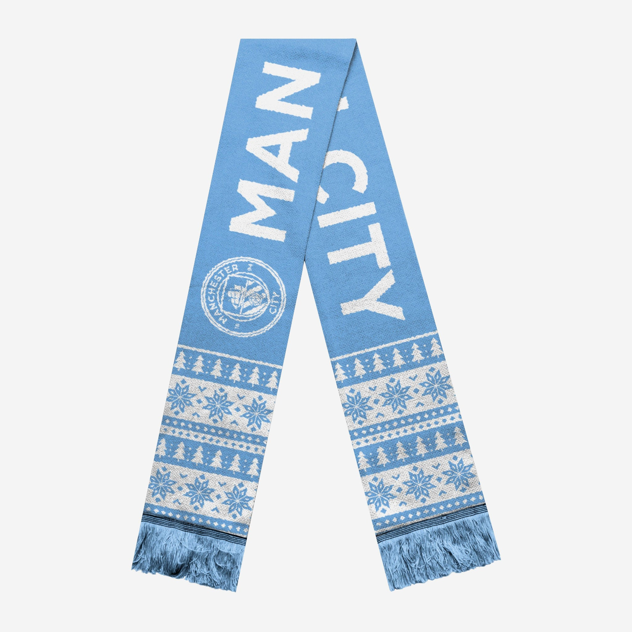 f392810870a Manchester City FC Holiday Scarf FOCO - FOCO.com | UK & IRE