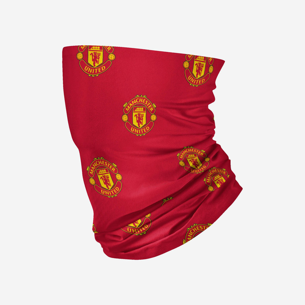 Manchester United FC Mini Print Logo Snood Scarf FOCO - FOCO.com | UK & IRE