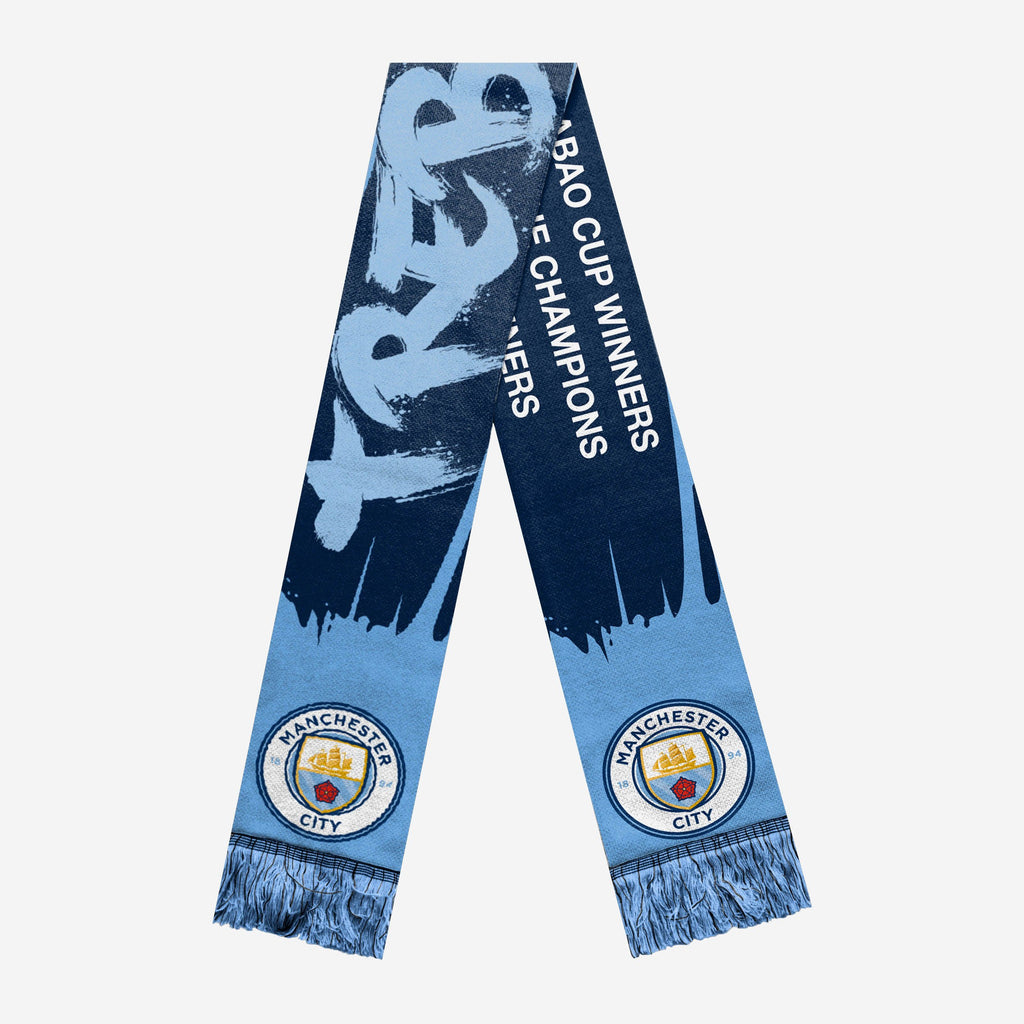 Manchester City FC 2018-19 Treble Winners Scarf FOCO - FOCO.com | UK & IRE
