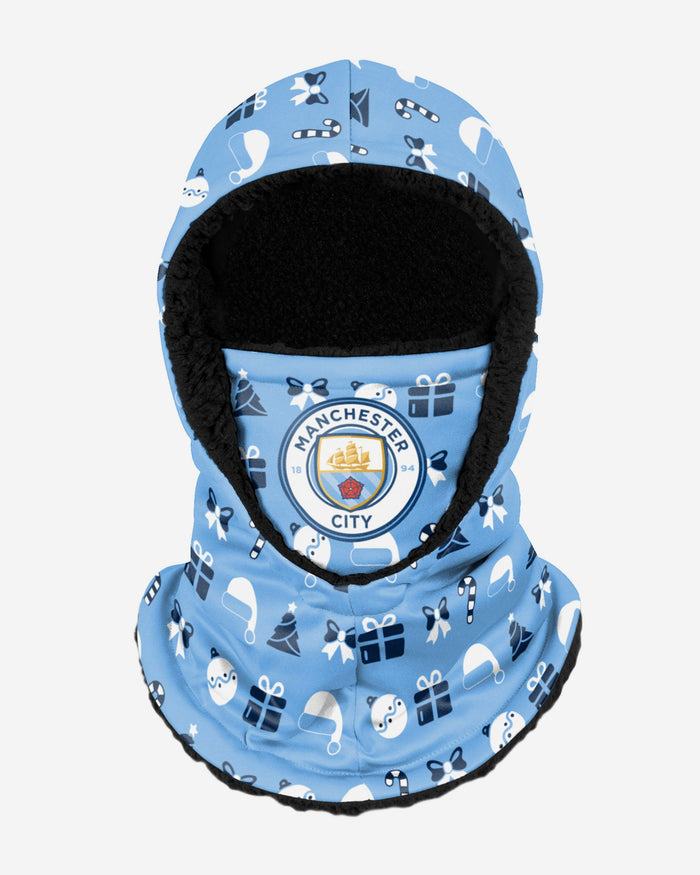 Manchester City FC Christmas Hooded Snood FOCO - FOCO.com | UK & IRE